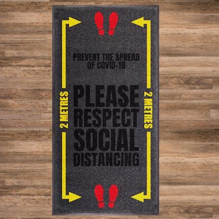 Respect Social Distancing Mat