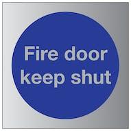 Aluminium Effect - Fire Door Keep Shut