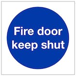 Fire Door Keep Shut - Polycarbonate