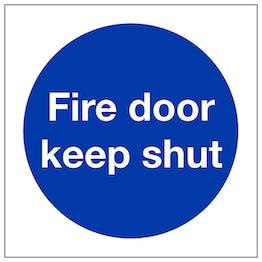Fire Door Keep Shut - Polycarbonate