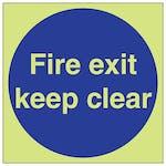 GITD Fire Exit Keep Clear