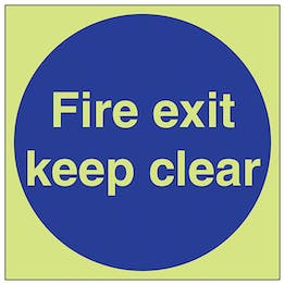GITD Fire Exit Keep Clear