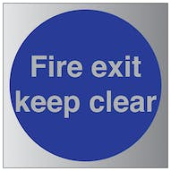 Aluminium Effect - Fire Exit Keep Clear