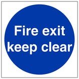 Fire Exit Keep Clear - Polycarbonate