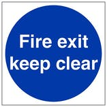 Eco-Friendly Fire Exit Keep Clear