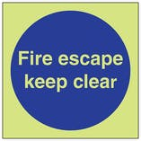 GITD Fire Escape Keep Clear