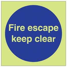 GITD Fire Escape Keep Clear