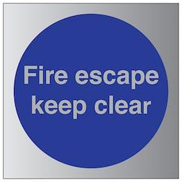 Fire Escape Keep Clear - Aluminium Effect