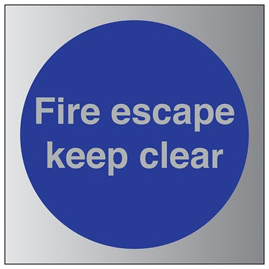Aluminium Effect - Fire Escape Keep Clear