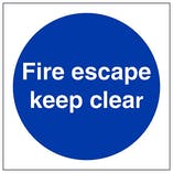 Eco-Friendly Fire Escape Keep Clear