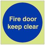 GITD Fire Door Keep Clear