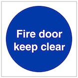 Fire Door Keep Clear - Polycarbonate
