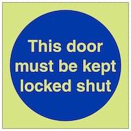 GITD This Door Must Be Kept Locked Shut