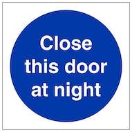 Close This Door At Night