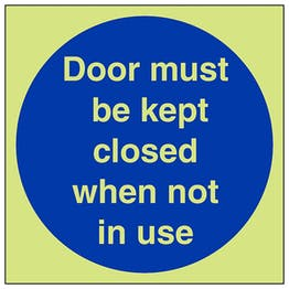 GITD Door To Be Kept Closed