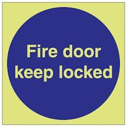 GITD Fire Door Keep Locked