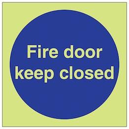 GITD Fire Door Keep Closed