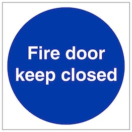 Fire Door Keep Closed - Polycarbonate