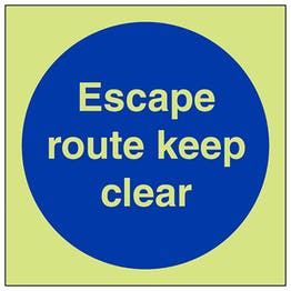 GITD Escape Route Keep Clear