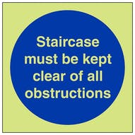 GITD Staircase Must Be Kept Clear