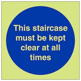 GITD Staircase Must Be Kept Clear At All Times