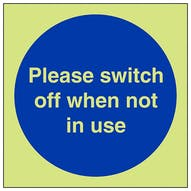 GITD Switch Off When Not In Use - Square