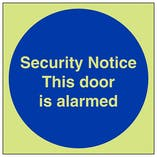 GITD Security Notice This Door Is Alarmed