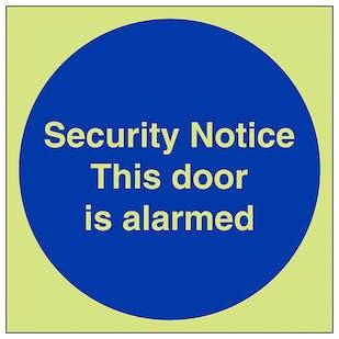 GITD Security Notice This Door Is Alarmed