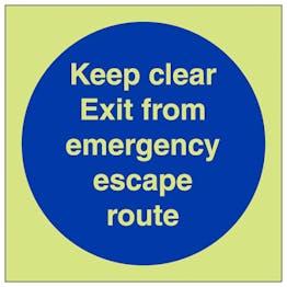 GITD Keep Clear Emergency Escape Route