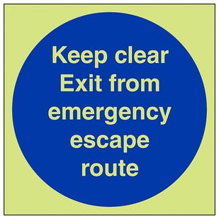 GITD Keep Clear Emergency Escape Route