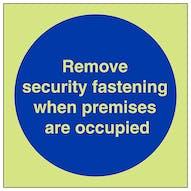 GITD Remove Security Fastening