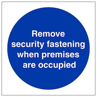 Remove Security Fastening