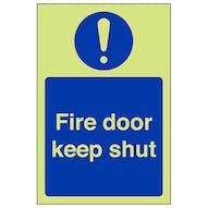 GITD Fire Door Keep Shut - Portrait