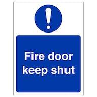 Fire Door Keep Shut - Portrait