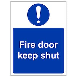 Fire Door Keep Shut - Portrait