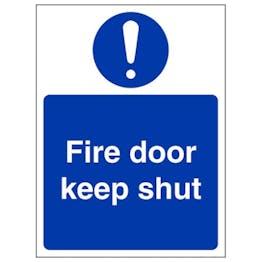 Eco-Friendly Fire Door Keep Shut - Portrait