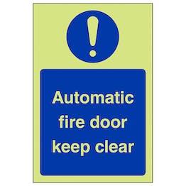 GITD Automatic Fire Door - Portrait