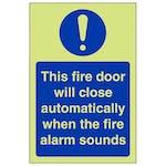 GITD Fire Door Will Close Automatically - Portrait