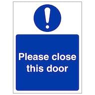Please Close This Door - Portrait