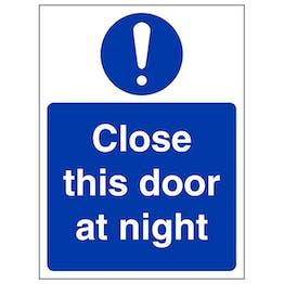 Close This Door At Night - Portrait