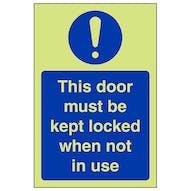 GITD This Door To Be Kept Locked - Portrait