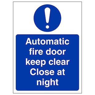 Automatic Fire Door Close At Night - Portrait
