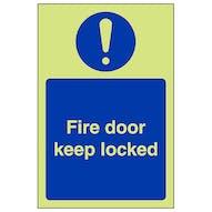 GITD Fire Door Keep Locked - Portrait