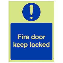 GITD Fire Door Keep Locked - Portrait