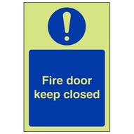 GITD Fire Door Keep Closed - Portrait