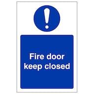 Fire Door Keep Closed - Portrait