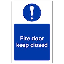 Fire Door Keep Closed - Portrait