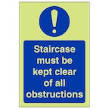 GITD Staircase Must Be Kept Clear - Portrait