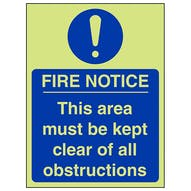 GITD Fire Notice This Area Must Clear - Portrait