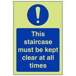 GITD Staircase Kept Clear At All Times - Portrait